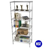 Metro Store Heavy Duty Industrial Chrome Wire Shelving - Load 800lbs / Shelf (HD183672A6C)