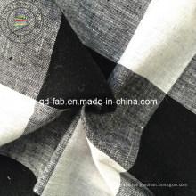 Linho / fio de algodão tecido tingido (QF13-0760)