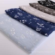 Premium shimmer gold line moda mujer musulmana impreso premium algodón bordado hijab