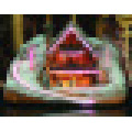 Christmas Snow Village Fiber Optic Lit House Christmas Decoration