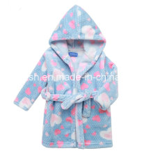 Cute Print Polar Fleece Children Bathrobe