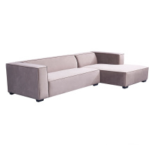 Grey Fabric Upholstered Home Living Room Sectional Furniture Modern Modular Couch For Sale