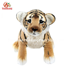 High quality wollens fabric tiger pattern soft toy
