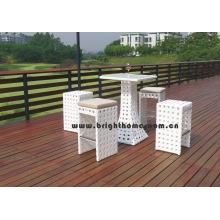 Mobília de jardim cadeira de Rattan Tabe Bar Set