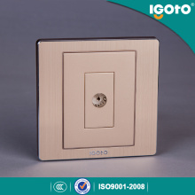 Igoto British Standard Brushed Aluminum Electric TV Plug Wall Socket