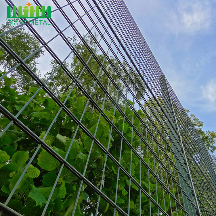 Welded dan Galvanized Double Horizontal Fence Panel