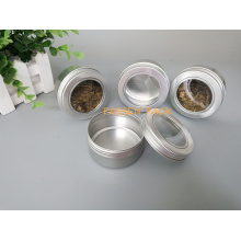 80ml Alminum Kosmetik-Creme-Glas mit Fenster-Schraubdeckel (PPC-ATC-80)