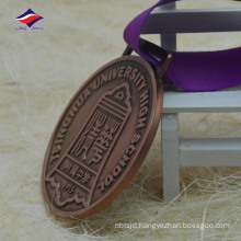 Round shape university high school metal medal zinc alloy