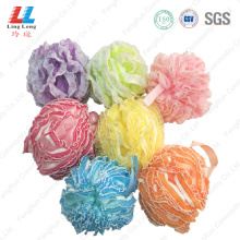 Lace+mesh+sponge+ball+bath+loofah+shower+scrub