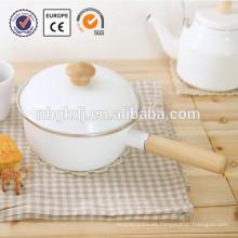 ollas de cacerola de esmalte de cacerola de salsa de aluminio fáciles de limpiar