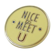 Gold Round Enamel Metal Emblem
