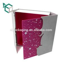 Fabrik Preis angepasst Glitter Papier Hochzeit Kleid Geschenkbox