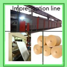 Línea de la impregnación para el papel de la melamina / la línea de impregnación de 4 PIES / la máquina de recubrimiento del papel de la decoración