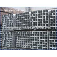 Tubulação de aço quadrada galvanizada média