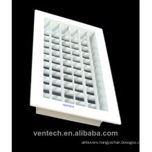 double deflection ceiling grille,