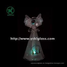 Sosteniendo el ángulo de cristal de la estrella para la decoración casera por BV, SGS (8 * 7 * 15.5 cm)