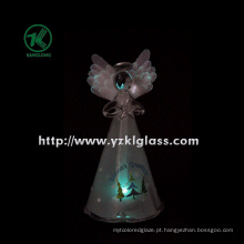 Ângulo de vidro da estrela da terra arrendada para a decoração Home por BV, GV (8 * 7 * 15.5 cm)