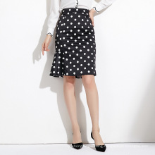 Wind With Tweed Fishtail Skirt Half-length Skirts