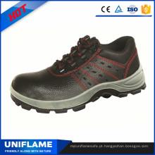 Sapatos de trabalho respirável S1p segurança do dedo do pé do plutônio do dedo do pé