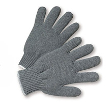 Grey Poly cotton T/C Yarn Seamless Knitted Gloves