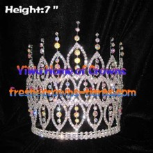 7inch AB Diamond Spike Pageant Crowns