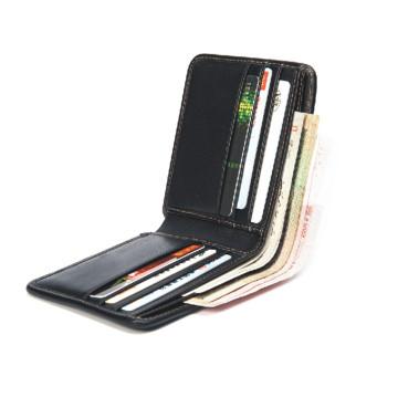 Cartera RFID de alta calidad de cuero con fibra de carbono