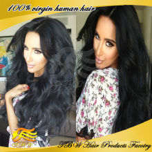 Indian Virgin silk top lace front human hair wigs 4*4 inch silk base glueless wig