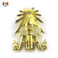 3D gold plating decoration metal badge for cars