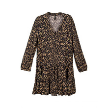Women's Long-Sleeve V-Neck Dress