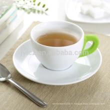 Tasse à café et soucoupe en céramique 160cc