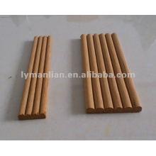 Molduras decorativas redondas de madera de teca