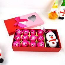 Индивидуальные рождественские подарочные коробки для упаковки роз с крышкой