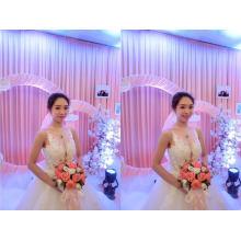 Venda quente 3d flor perolização nupcial vestido de noiva