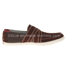 Brown Wholesale Men Casual Boat Leather Shoes