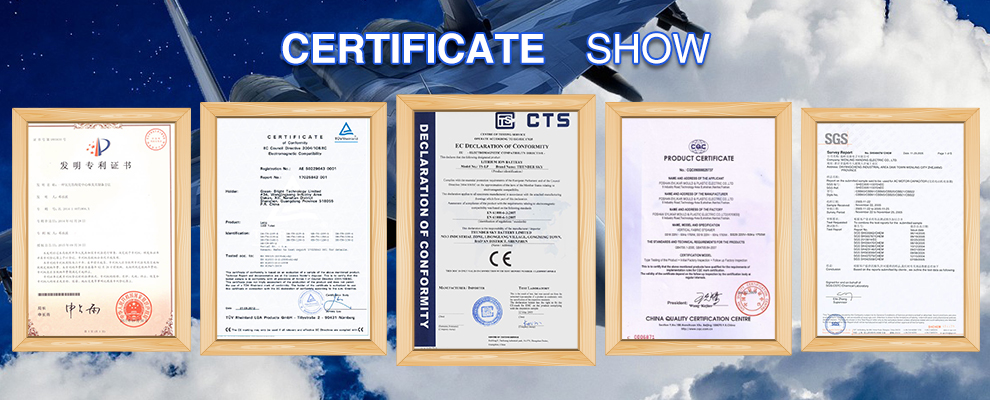 Industrial application ceramic certificates