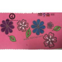 Belle broderie de motif fleur fleurie pour Pocket, Cap & Clothing
