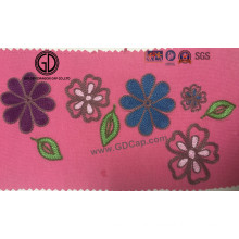 Beautiful Flower Pattern Lovely Logo Embroidery for Pocket, Cap & Clothing