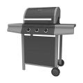 Three Burner Gas Barbecue Grill with Automatic Ignition