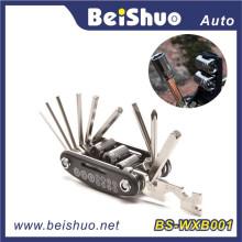 Ensemble d'outils de réparation de vélo de 16 po en 1 avec multifonction