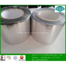Cinta adhesiva de papel de aluminio de color plata
