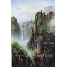 Pintura a óleo enorme da paisagem da cachoeira (ETL-103)