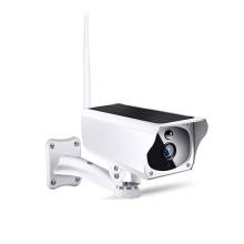 Câmera exterior de vigilância com a câmera home esperta sem fio do wifi posta solar