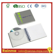 Caderno Espiral com CD Pocket