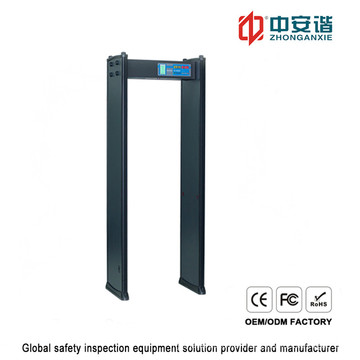 Inspection Human Body 200 Sensitivity Level Digital Metal Detector with Password Protection