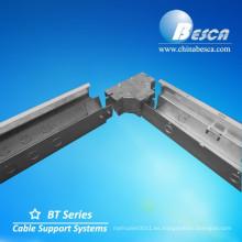 Bandeja de cable antióxido con cubierta Cable de fábrica Puente de conexión con bisagra UL con UL Número E465156 Besca