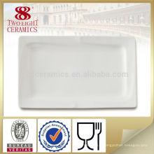 Plaque de service à gâteau Plaque de porcelaine blanche plate