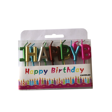 Surat Berwarna-Warni HAPPY BIRTHDAY Candle