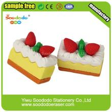3D Cake shaped eraser,Fancy Stationery Eraser