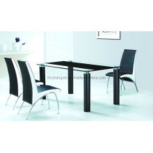 2016 New Design Be Easily Assembled Dining Glass Table and Chair