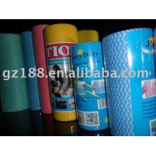 тиснением в горошек,однотонные и сетки для выбора волнистые спанлейс нетканые ткани/счетчик ткань